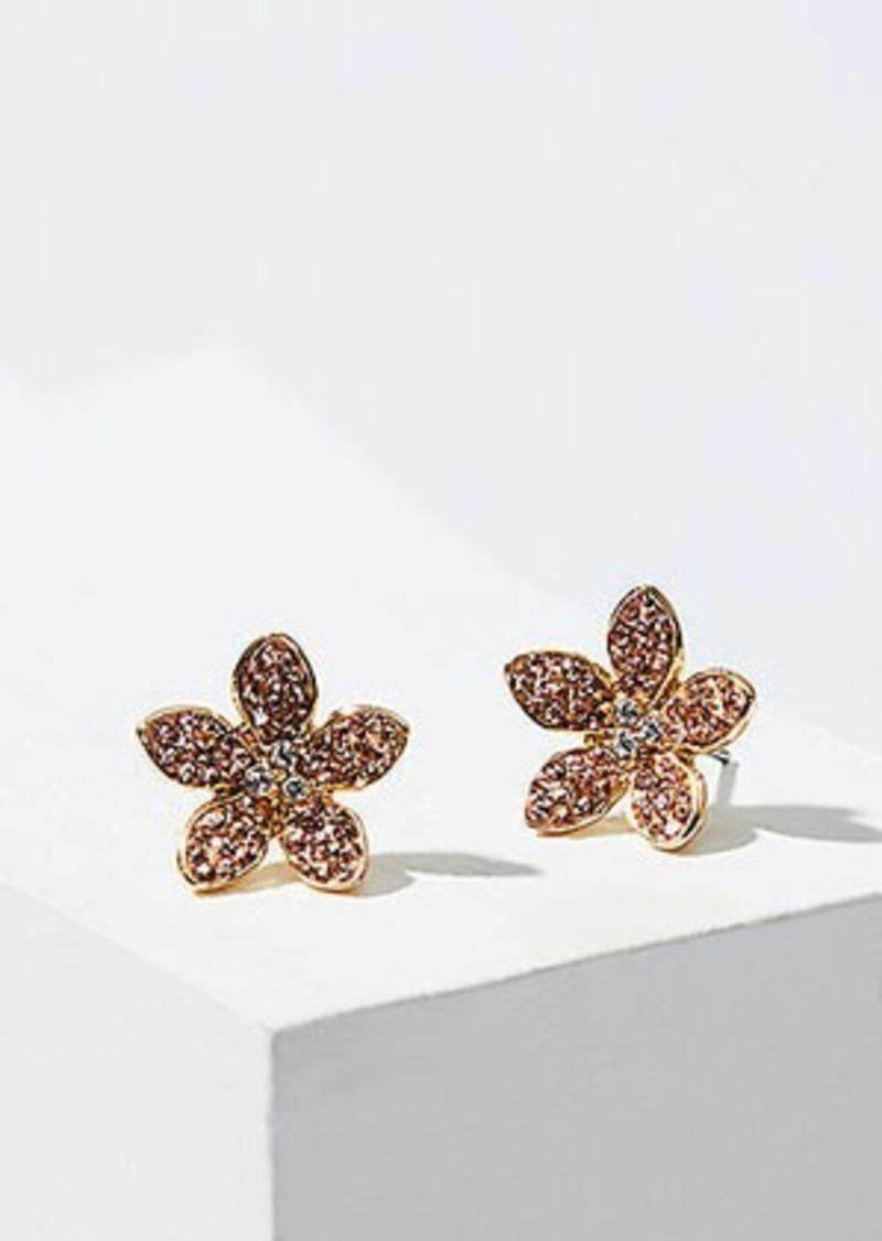 LOFT Crystal Flower Stud Earrings