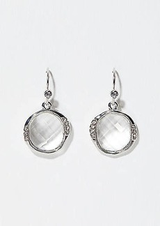 LOFT Crystal Frame Stone Drop Earrings