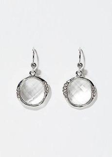 LOFT Crystal Frame Stone Drop Earrings
