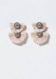LOFT Crystal Fringe Statement Earrings