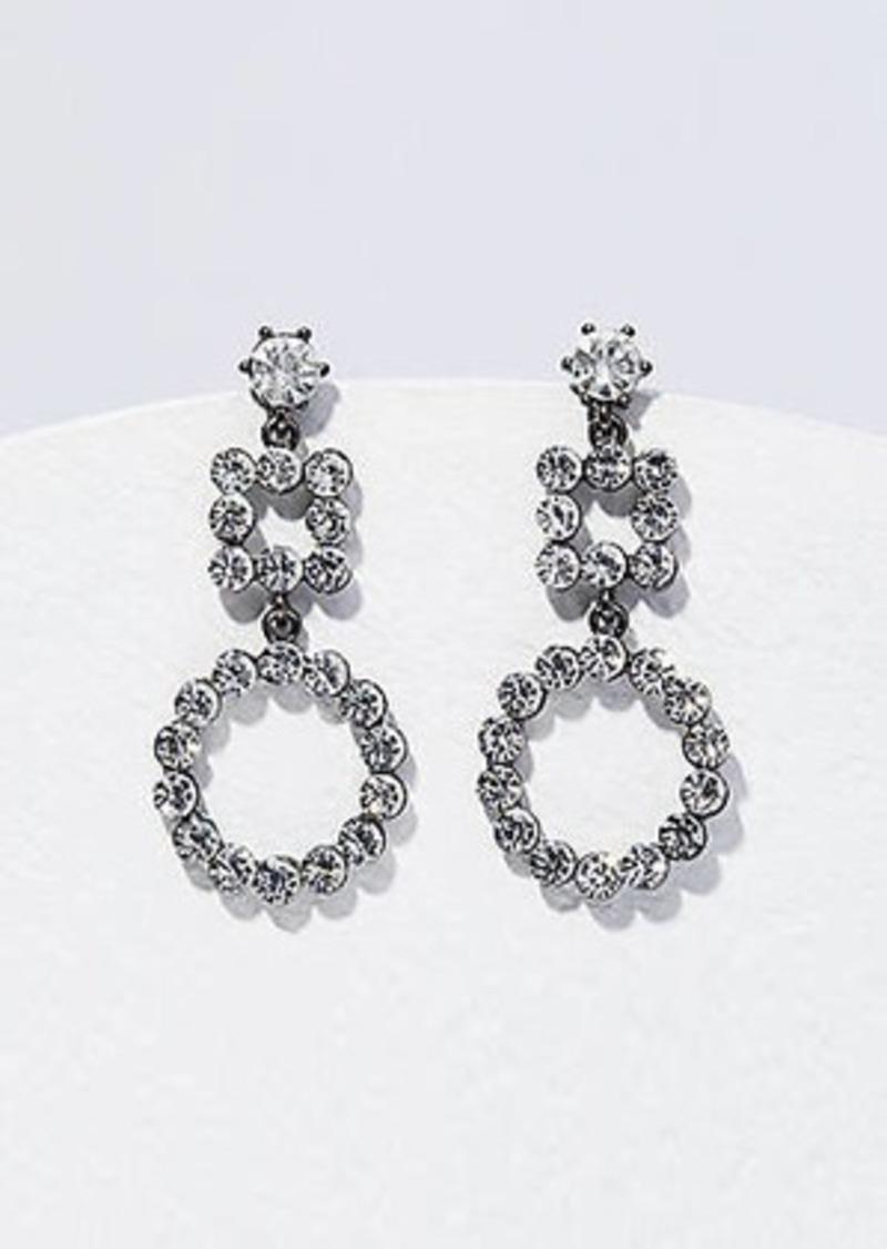 LOFT Crystal Geometric Drop Earrings