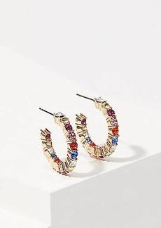 LOFT Crystal Hoop Earrings