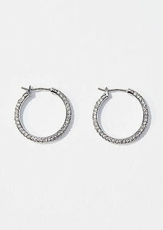 LOFT Crystal Hoop Earrings