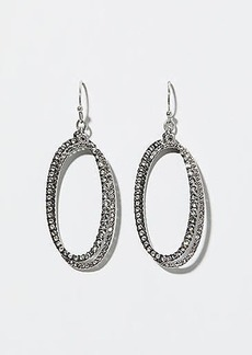 LOFT Crystal Oval Drop Earrings