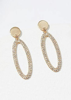 LOFT Crystal Oval Drop Earrings