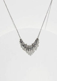 LOFT Crystal Ring Cluster Necklace