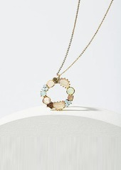 LOFT Crystal Ring Pendant Necklace
