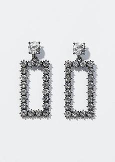 LOFT Crystal Square Drop Earrings