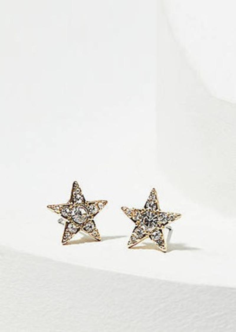 LOFT Crystal Star Stud Earrings