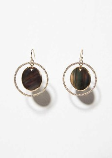 LOFT Crystal Stone Circle Drop Earrings