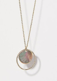 LOFT Crystal Stone Circle Pendant Necklace