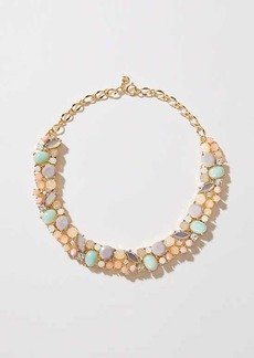 LOFT Crystal Stone Cluster Necklace