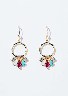 LOFT Crystal Stone Cluster Ring Earrings