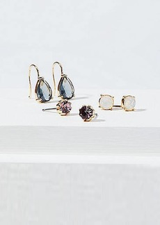 LOFT Crystal Stone Stud & Drop Earring Set