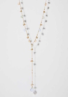LOFT Crystal Stone Y Necklace