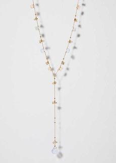LOFT Crystal Stone Y Necklace