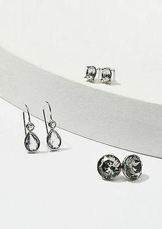 LOFT Crystal Stud & Drop Earring Set