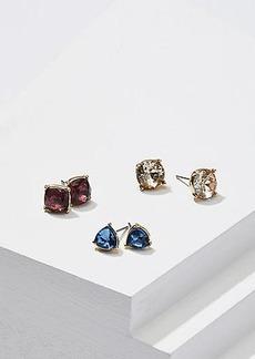 LOFT Crystal Stud Earring Set