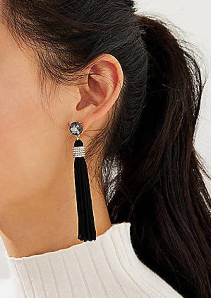 LOFT Crystal Wrapped Tassel Earrings