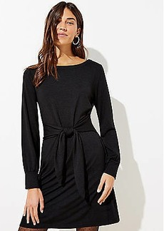LOFT Cuffed Tie Waist Dress