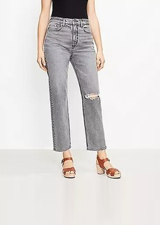 LOFT Curvy 90s Straight Jeans in Authentic Light Grey Wash