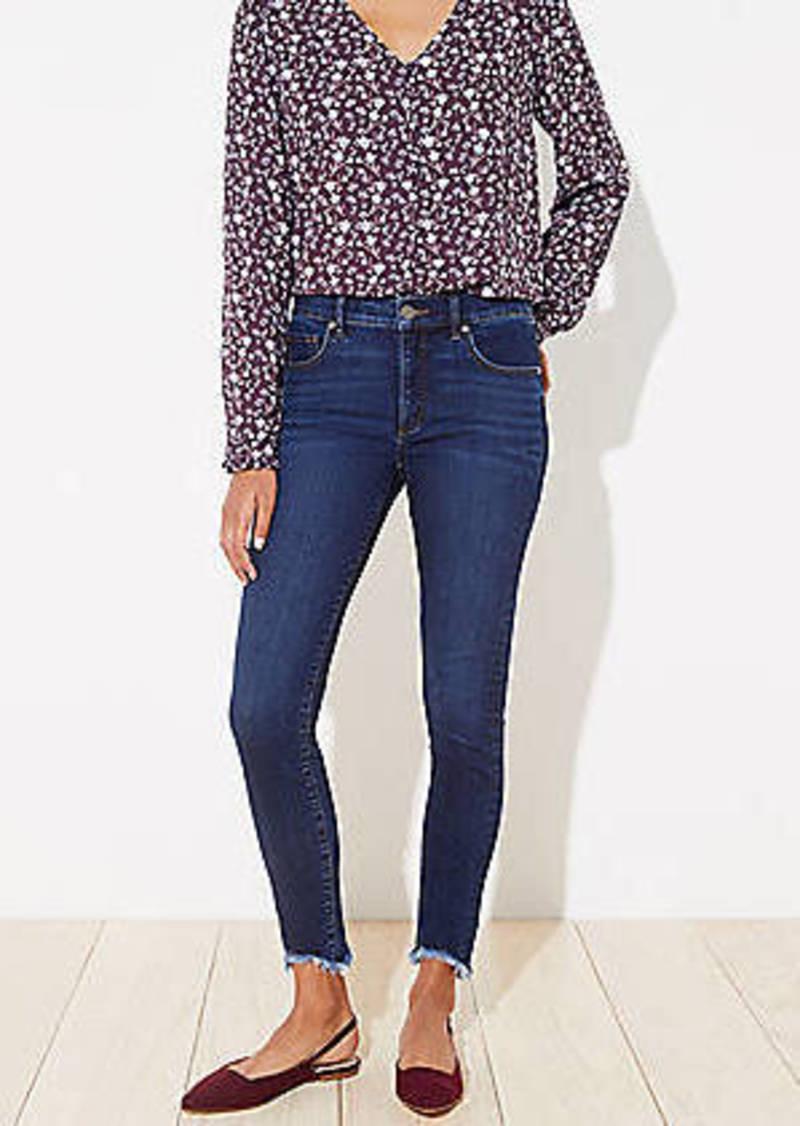 LOFT Curvy Chewed Hem Slim Pocket Skinny Jeans