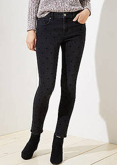 LOFT Curvy Dotted Skinny Jeans in Black