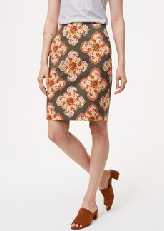 Curvy Floral Medallion Pencil Skirt