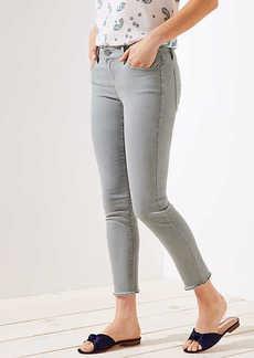 LOFT Curvy Frayed Skinny Crop Jeans