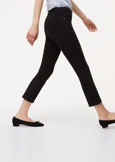 Curvy Kick Crop Jeans in Black