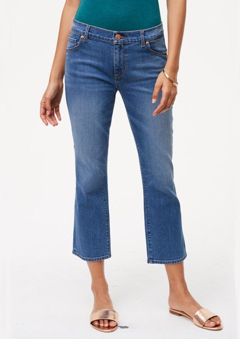 Loft Curvy Kick Crop Jeans In Vivid Indigo Wash Denim