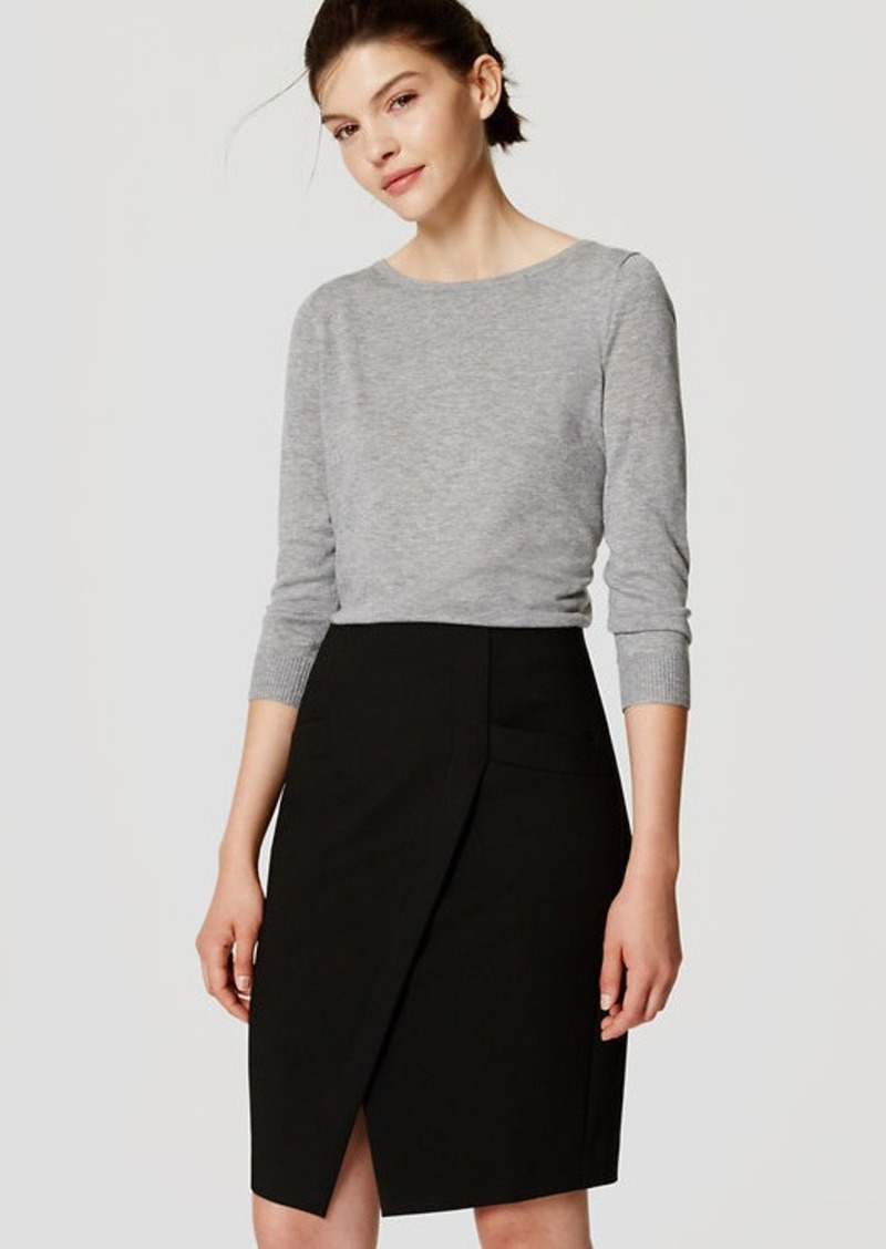 LOFT Curvy Pocket Wrap Pencil Skirt