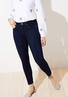 LOFT Curvy Seamed Slim Pocket Skinny Jeans in Pure Mid Indigo Wash