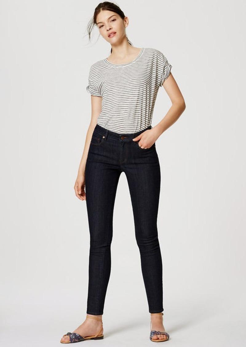 LOFT Curvy Skinny Ankle Jeans in Dark Rinse Wash