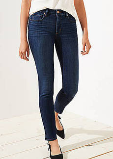 LOFT Curvy Soft Slim Pocket Skinny Crop Jeans in Authentic Dark Indigo Wash