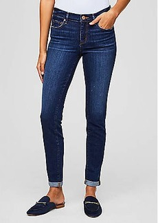 LOFT Curvy Skinny Crop Jeans in Rich Dark Indigo Wash
