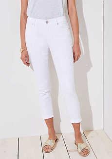 LOFT Curvy Skinny Crop Jeans in White