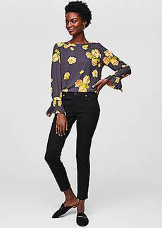 LOFT Curvy Skinny Jeans in Black