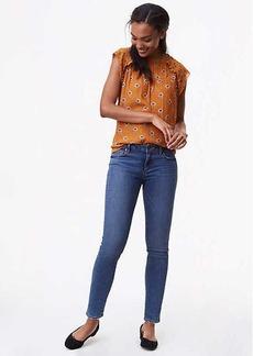 LOFT Curvy Skinny Jeans in Classic Mid Indigo Wash