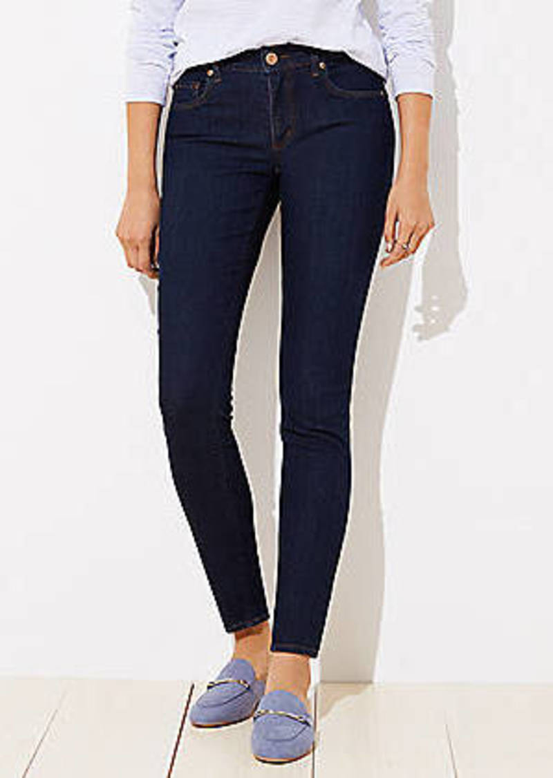 LOFT Curvy Skinny Jeans in Dark Rinse Wash