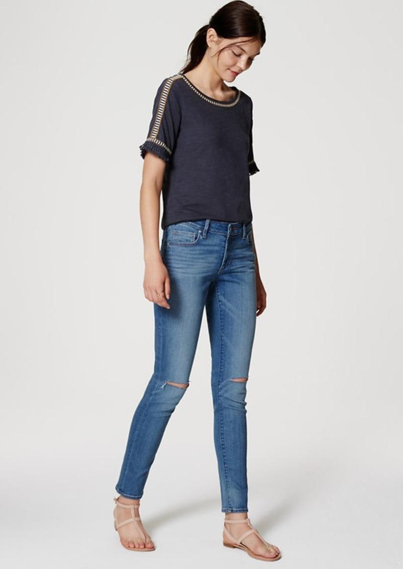 LOFT Curvy Skinny Jeans in Medium Light Authentic Wash