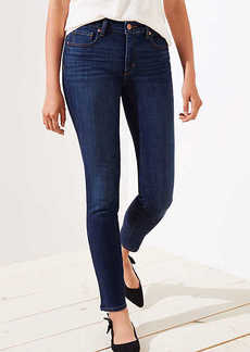 LOFT Curvy Slim Pocket Skinny Jeans in Staple Dark Indigo Wash