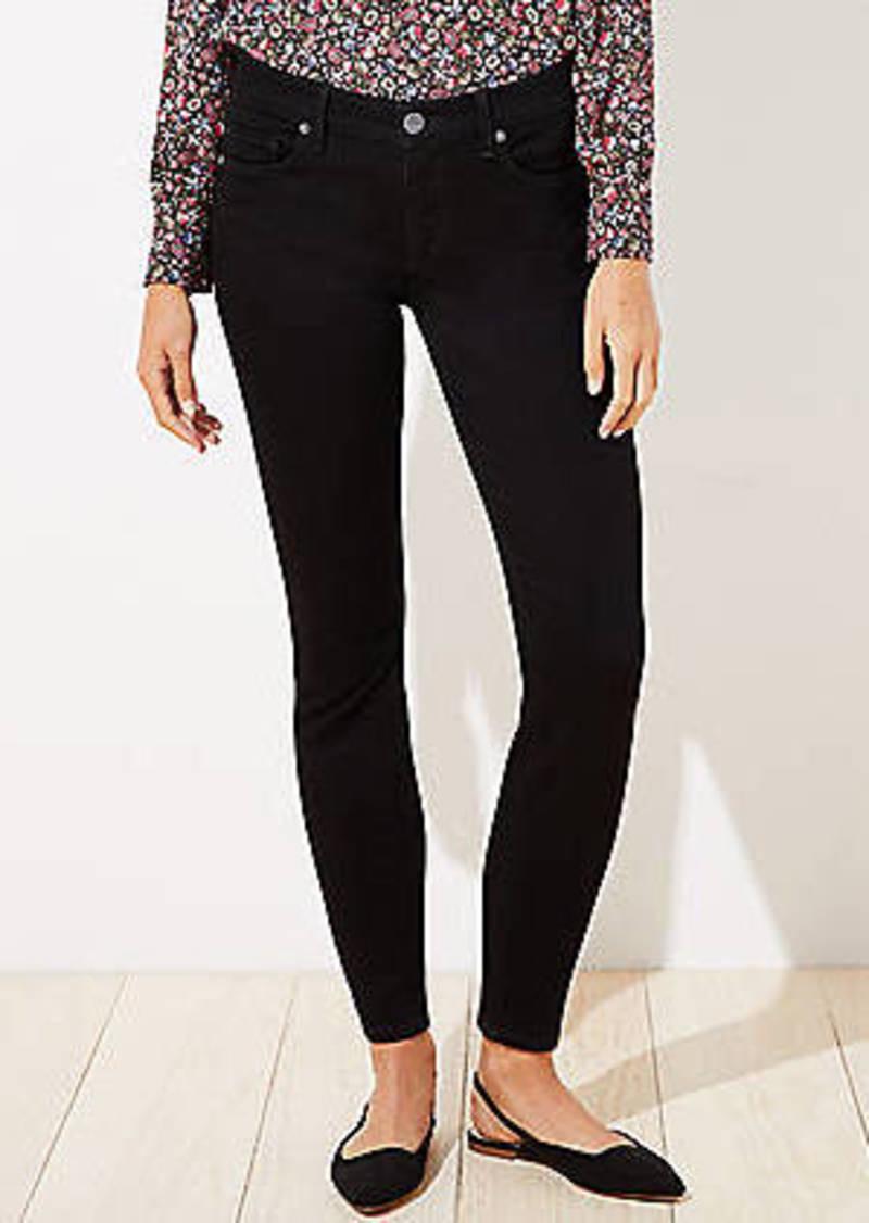 LOFT Curvy Slim Pocket Skinny Jeans in Black