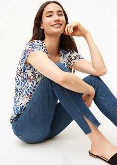 Curvy Slit Fresh Cut Skinny Jeans in Vivid Dark Indigo Wash