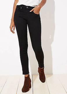 LOFT Curvy Straight Leg Jeans in Black