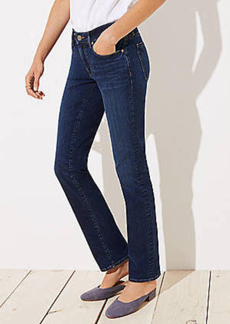 LOFT Curvy Straight Leg Jeans in Dark Indigo Wash