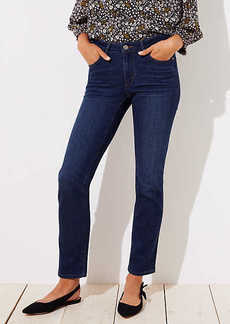 LOFT Curvy Straight Leg Jeans in Dark Indigo Wash