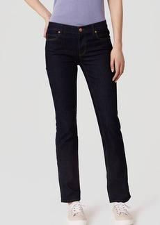 LOFT Curvy Straight Leg Jeans in Dark Rinse Wash