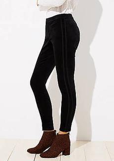 LOFT Curvy Velvet Tuxedo Pants