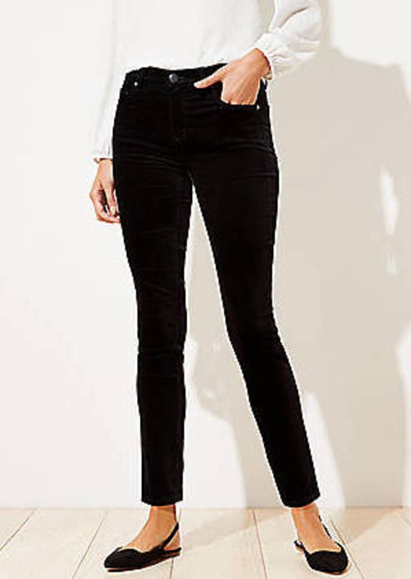 LOFT Curvy Velvet Skinny Pants